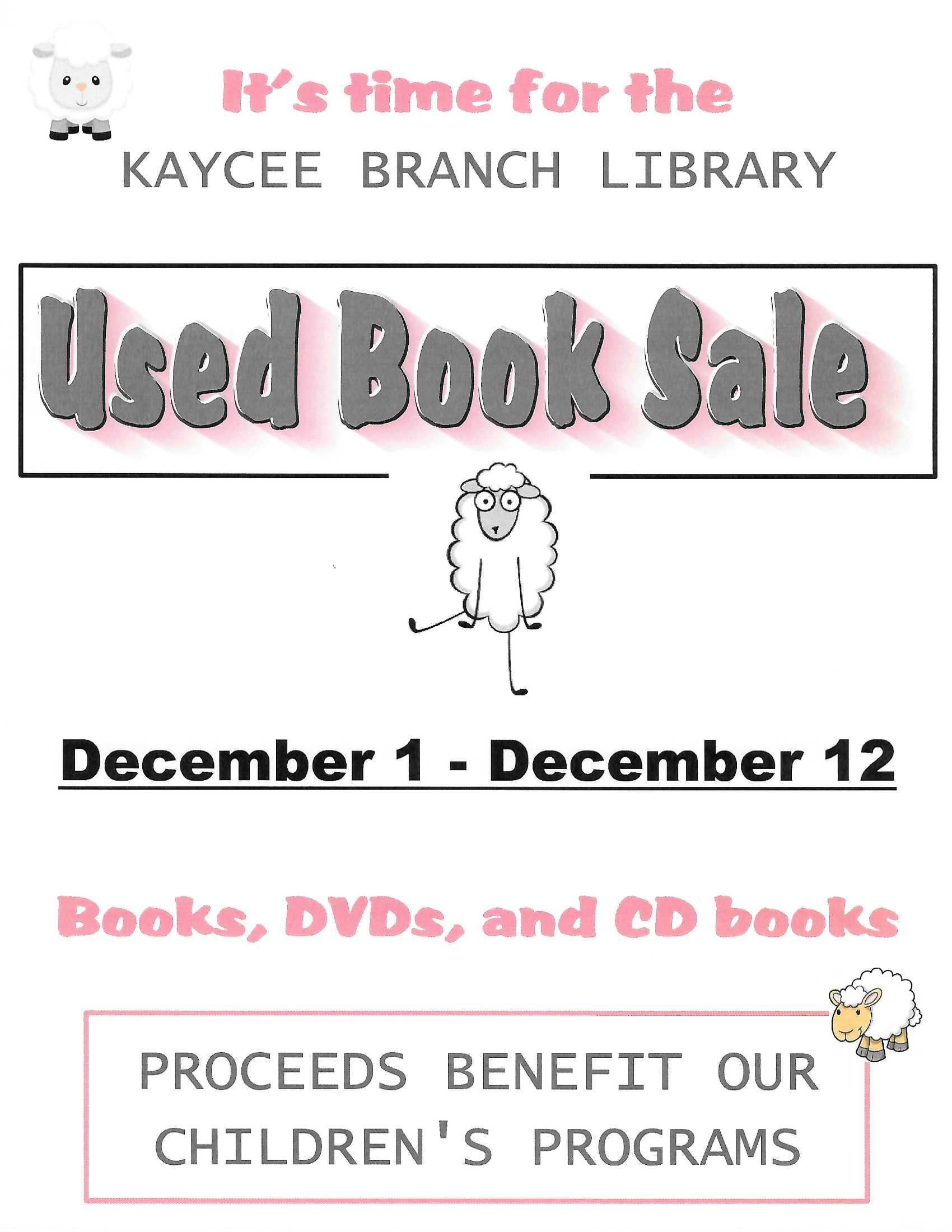Kaycee Branch Library Used Book Sale  Image