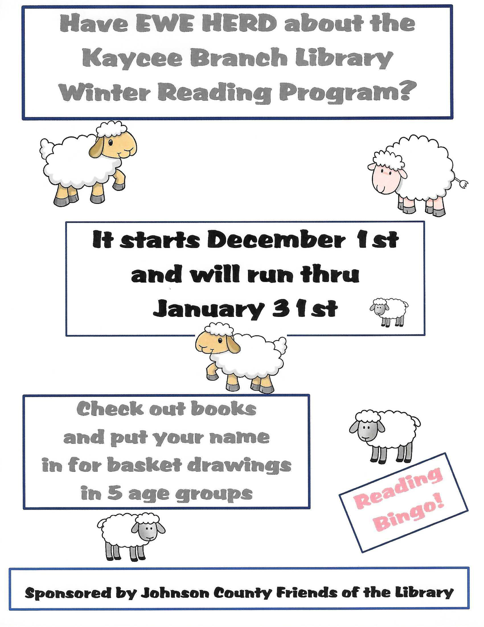 Winter Reading Program Image