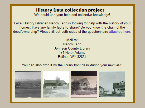 History Data collection project  Image